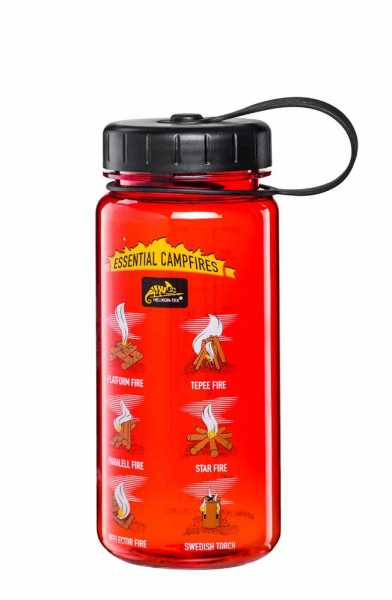Trinkflasche Wide Mouth Campfires rot