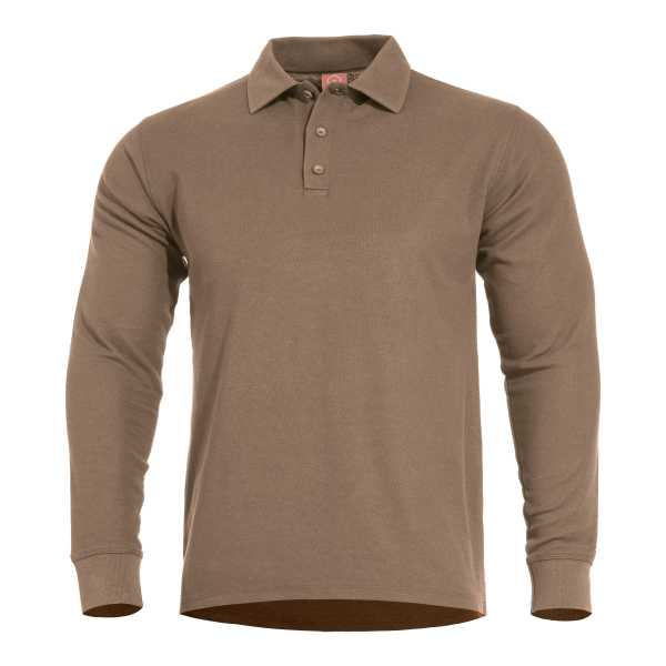 Pentagon Aniketos Long Polo Shirt coyote