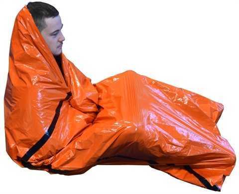 Rettungsdecke Biwaksack orange
