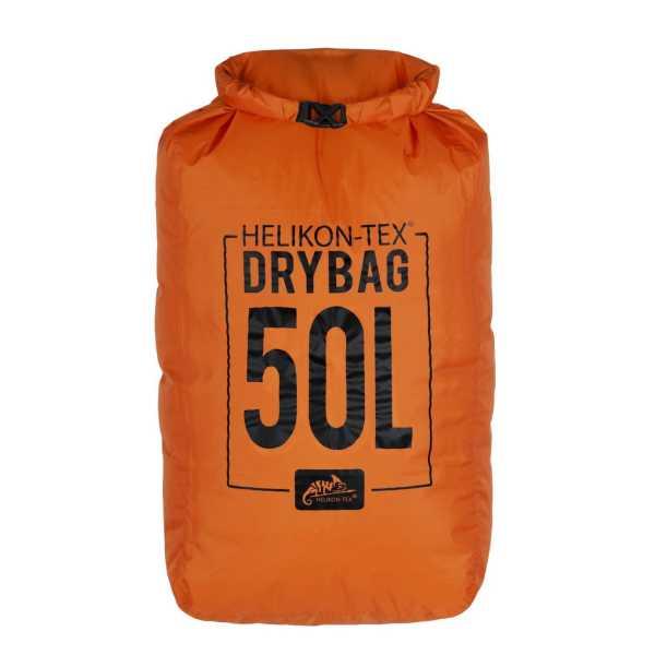 Wasserdichte Wandertasche 50L orange/schwarz