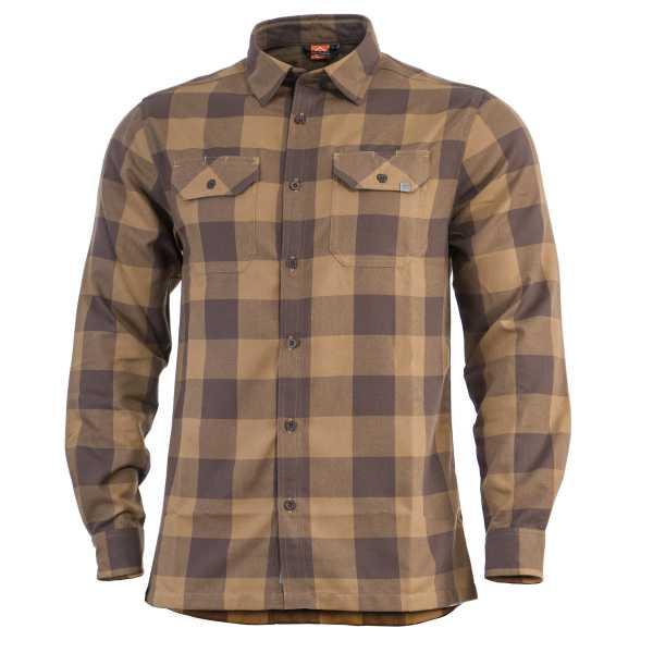 Pentagon Drifter Flannel Shirt braun kariert