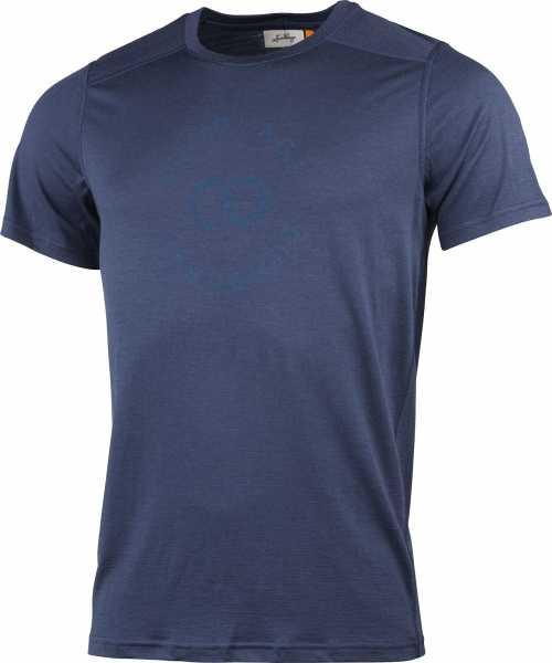 Lundhags Gimmer Merino T-Shirt Ms Sigill Tee, blau