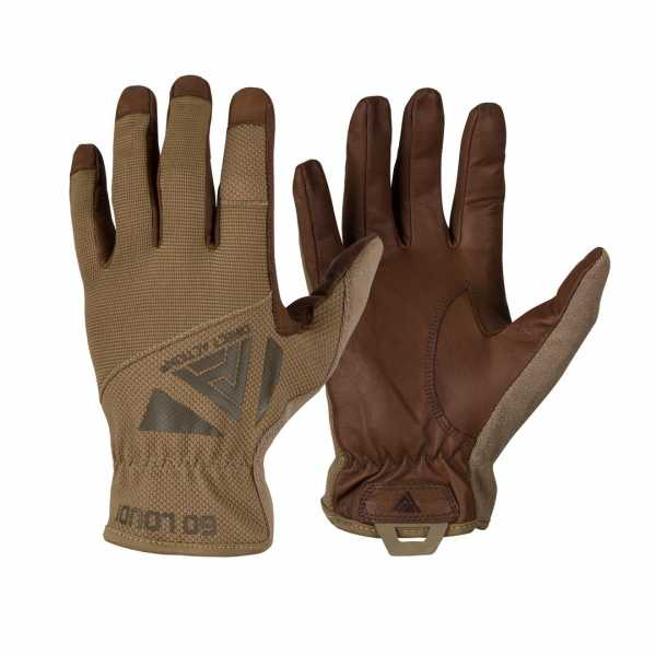 Direct Action Light Leather Gloves coyote-brown