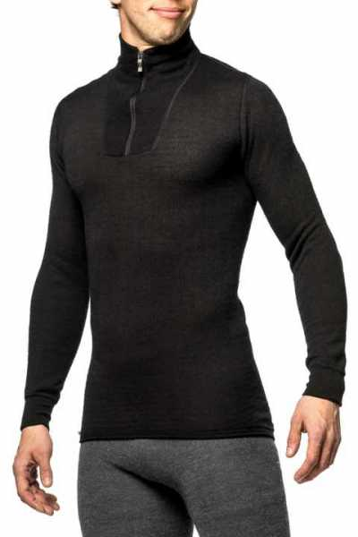 Woolpower Zip Turtle Neck 200 schwarz