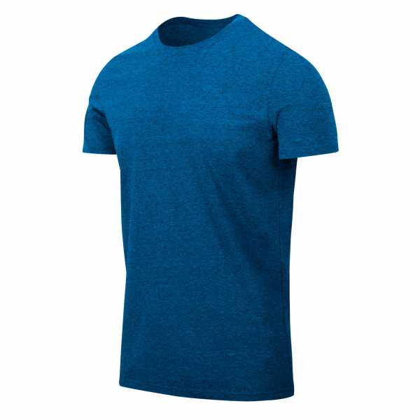 T-Shirt Slim blau melange