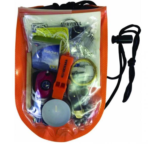 Wasserdichtes Survival Paket mit Inhalt