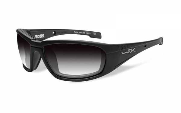 WX Boss Light Adjusting Grey lens Matte Black frame