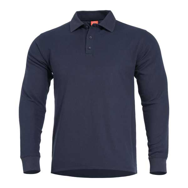 Pentagon Aniketos Long Polo Shirt navi blau