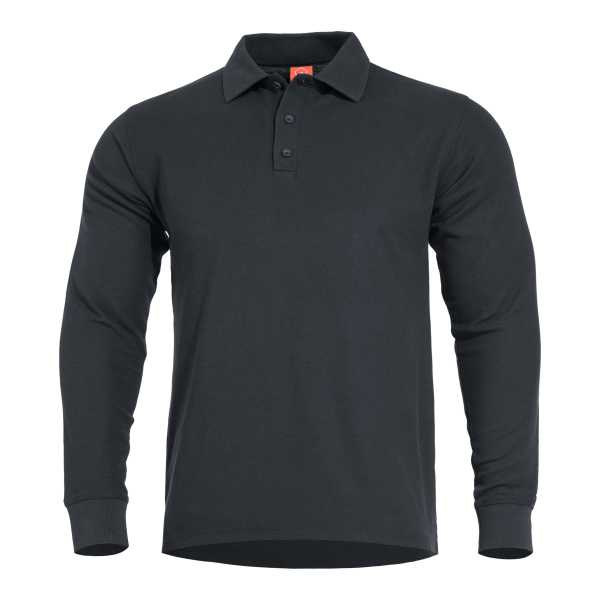 Pentagon Aniketos Long Polo Shirt schwarz